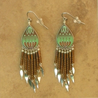 Peruvian Painted Earrings | Sage & Brown
