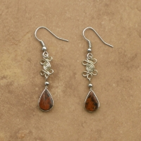 Natural Stone Jewelry | Double Clover Earrings