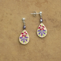 Flower Jewelry | Clematis Earrings | Post