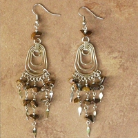 NEW Peruvian Stone Chip Earrings | Waterdrops | Obsidian