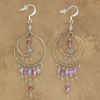 Crystal Chandelier Earrings | Lilac | Lg