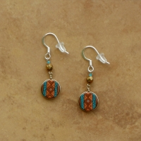 Small Peruvian Earrings | Copper & Teal