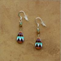 Small Peruvian Earrings | Turquoise & Copper
