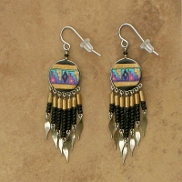 NEW Peru Beaded Earrings | Black & Gold