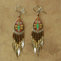 Nature Jewelry | Brown Dragonfly Earrings