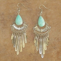 Natural Stone Peruvian Earrings | Gypsy Style