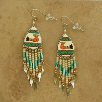 Peruvian Painted Earrings | Thunderbird