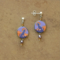 SALE Animal Jewelry | Wolves Earrings | Posts