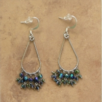 Beaded Chandelier Earrings | Black Iris | Sm